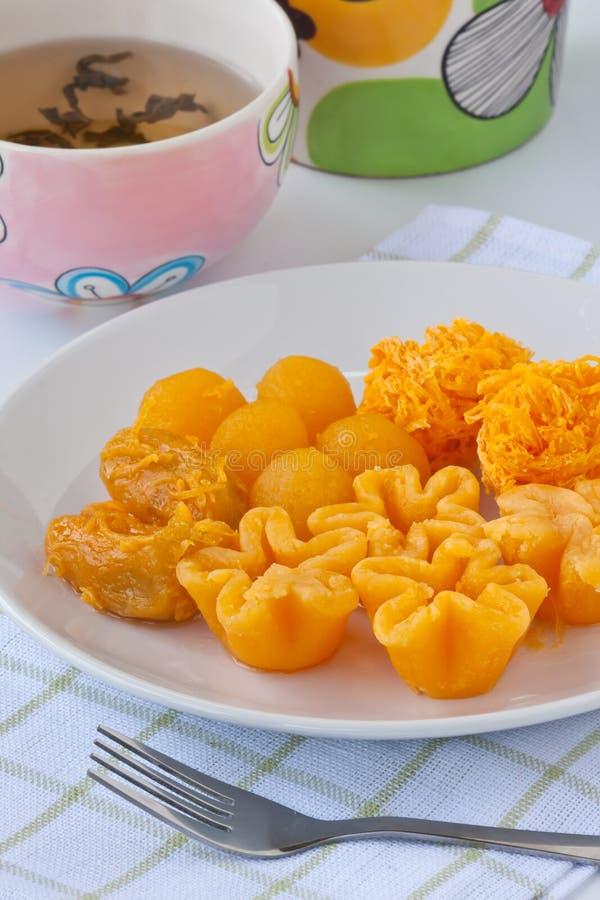 Sweetmeat dourado tailandês imagens de stock