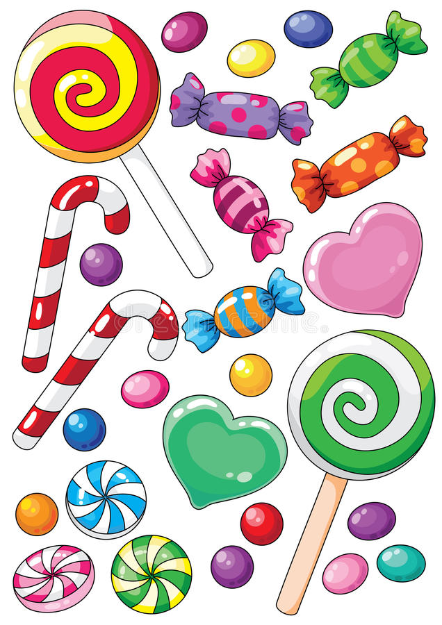 Download Sweets stock vector. Image of treat, festive, peppermint - 18638110