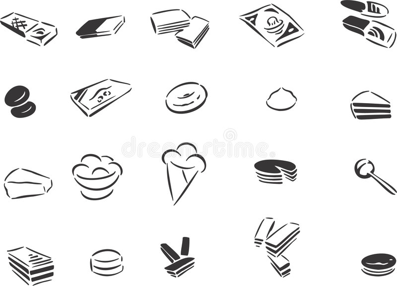 Download Sweets stock vector. Image of sweets, drawing, white, line - 7408694