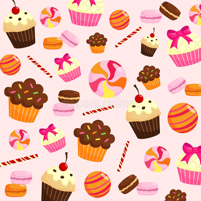 Sweets Background Stock Vector. Illustration Of