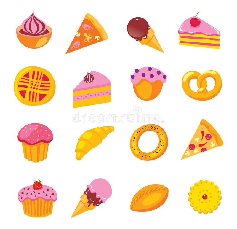 Download Sweets & Bakery Set Royalty Free Stock Image - Image: 27879666