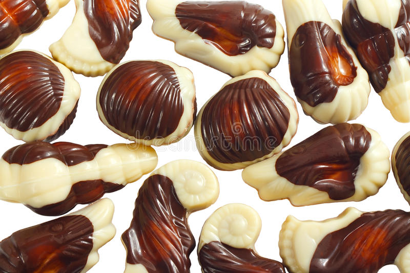 Sweets from a black and white chocolate royalty free stock photography