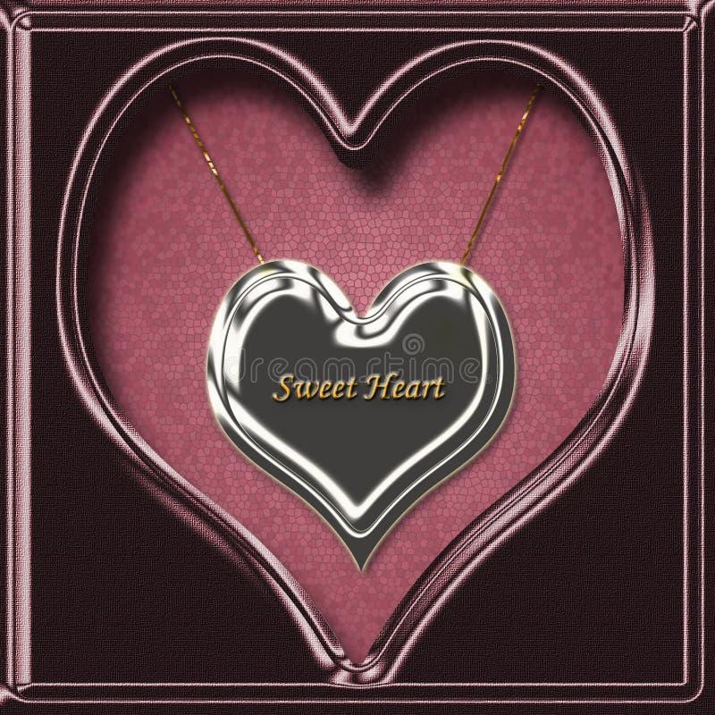 sweets breloczka serce naszyjnik zdjęcie stock