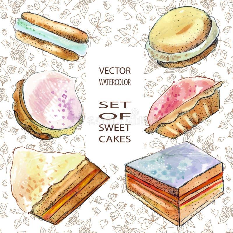 sweets ciastek royalty ilustracja