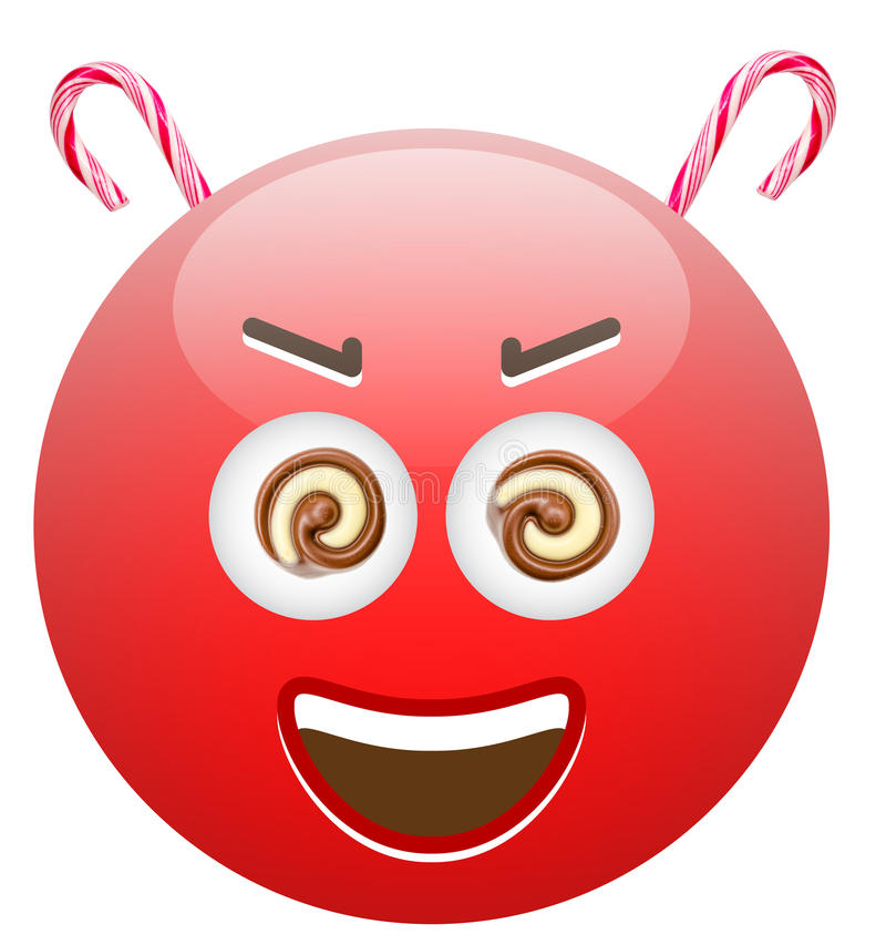Sweets Are Dangerous Emoticon royalty free stock images