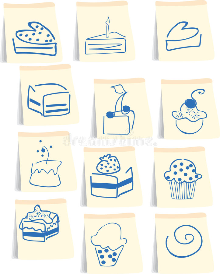 Download Sweets icon set stock vector. Illustration of blank, cherry - 8533378
