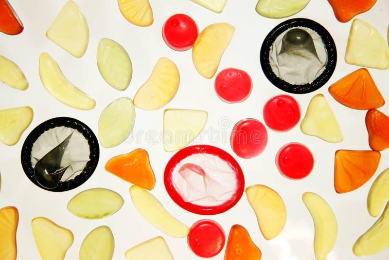 sweets kondomów zdjęcie stock