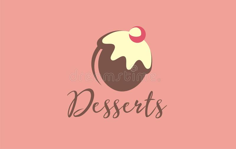 Sweets logo vector. Discover sweetness in your favorite delicious. royalty free illustration
