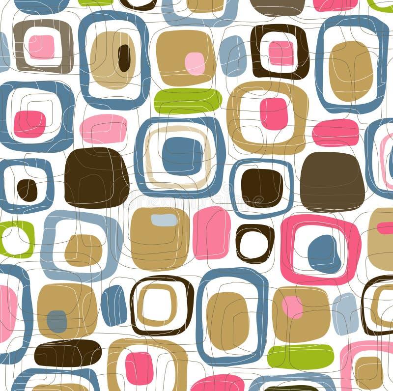 sweets retro kwadraty położenie ilustracja wektor