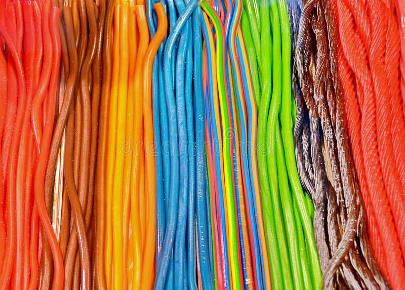 Colorful licorice stock images