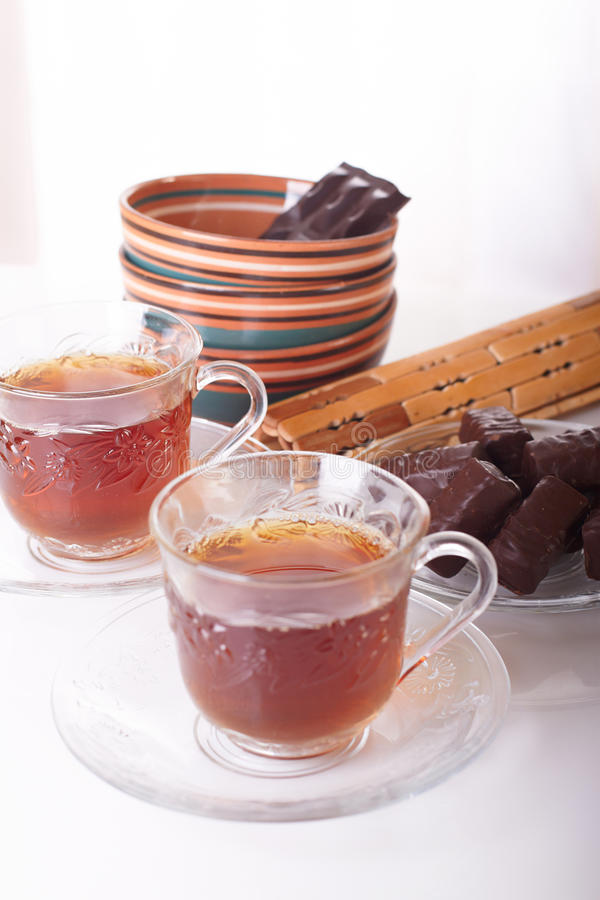 Sweets To Tea And Tea Royalty Free Stock Image