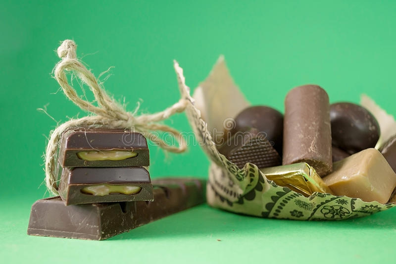 sweets truflowi czekolady odizolowanych fotografia stock