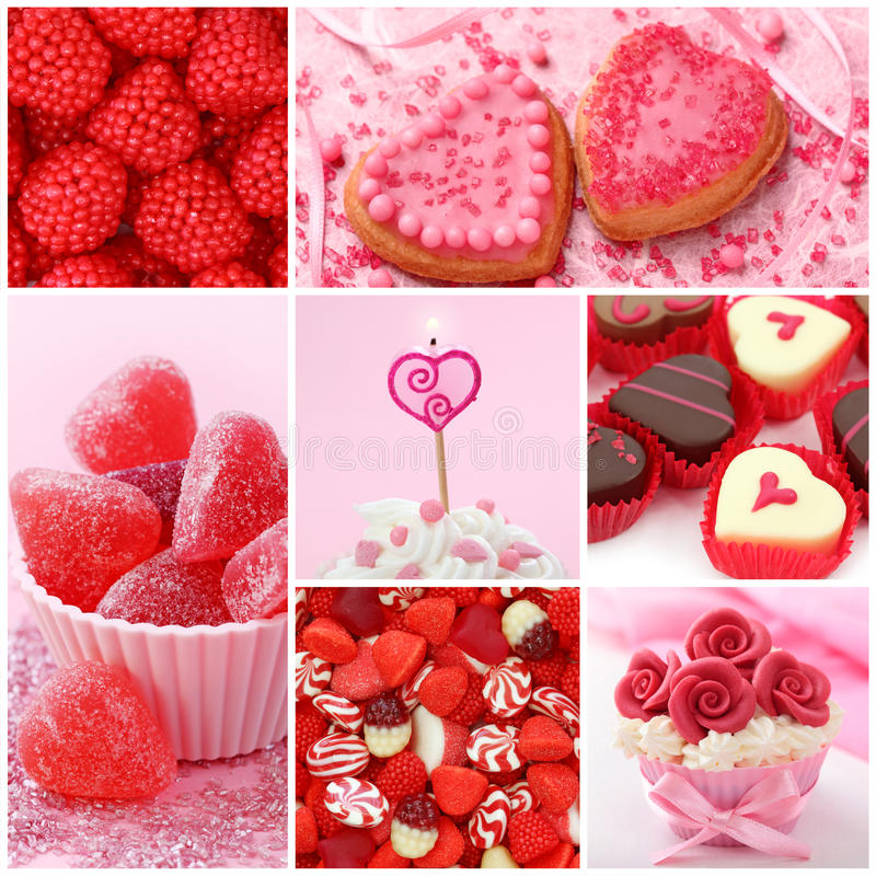 Sweets for valentine's day royalty free stock photo