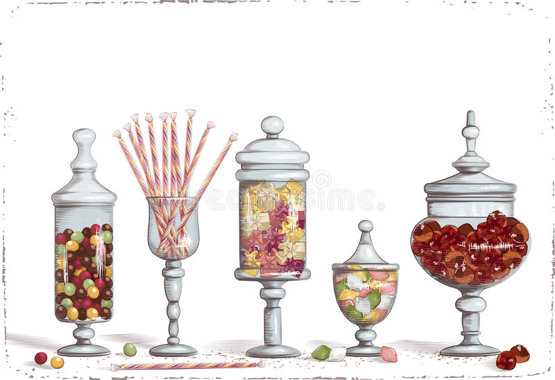 Sweetshop illustration de vecteur