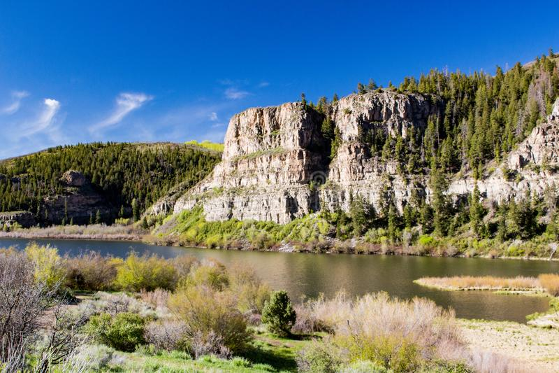 Sweetwatermeer in Gips, Colorado royalty-vrije stock foto