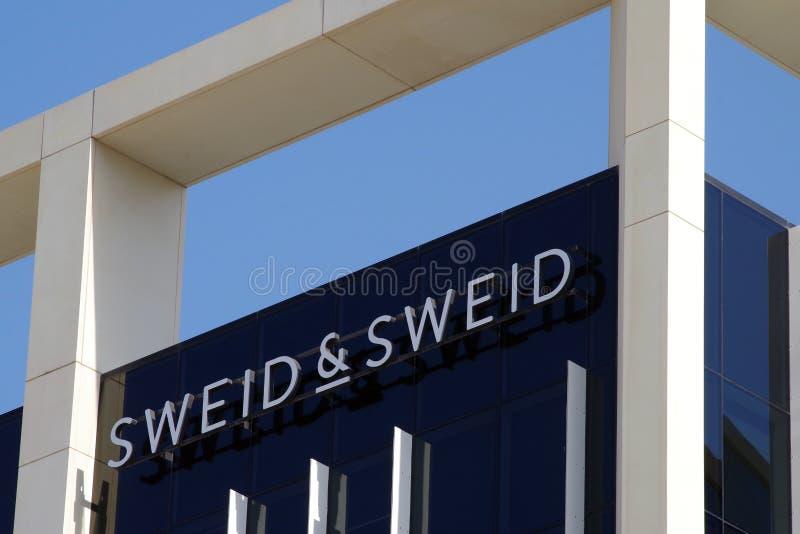 Sweid门面的图片 建立,在2006年SWEID & SWEID是一家得奖的基于迪拜的不动产企业 库存图片