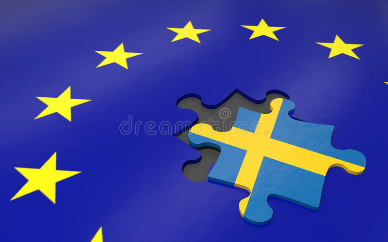 Swexit και ΕΕ ελεύθερη απεικόνιση δικαιώματος