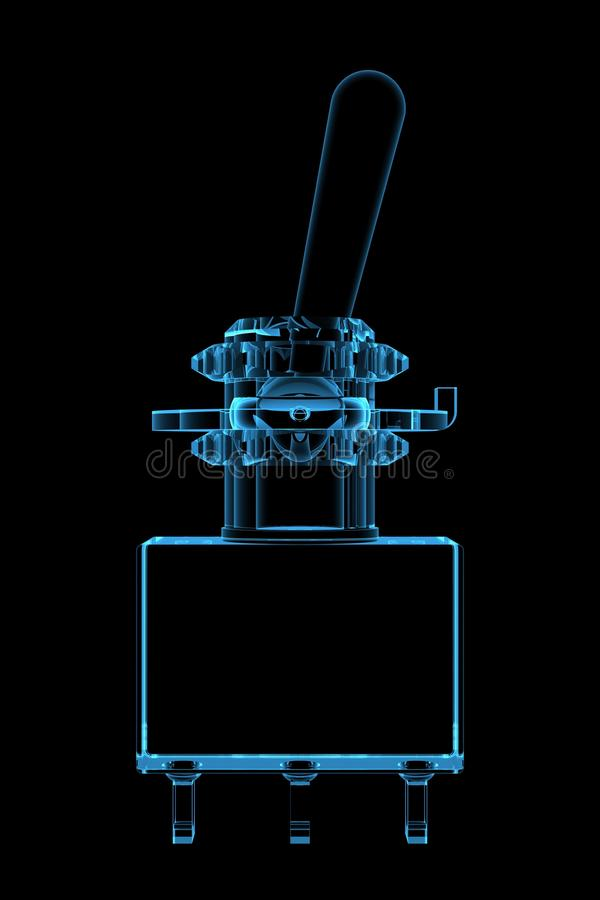 Download Swich 3D xray blue stock illustration. Image of black - 14362684