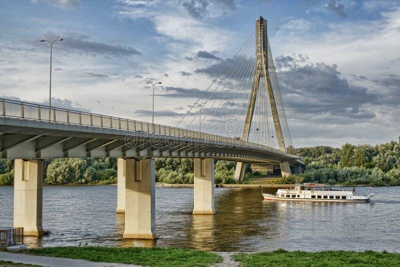 Swietokrzyski bridge royalty free stock photography