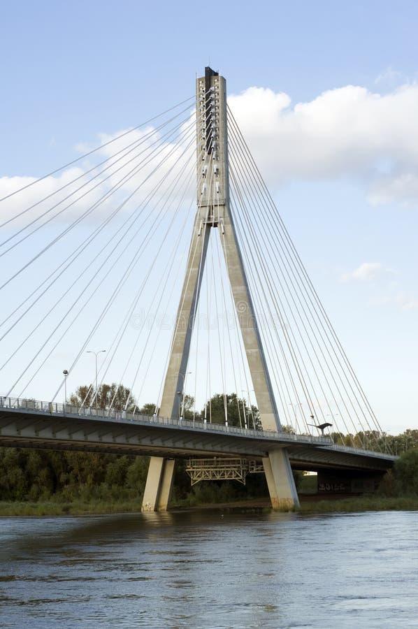 Swietokrzyski bridge in Warsaw, Polan stock photography
