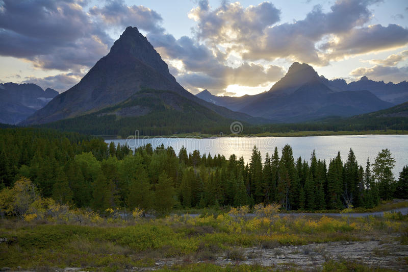 Swiftcurrent Lake royalty free stock photo