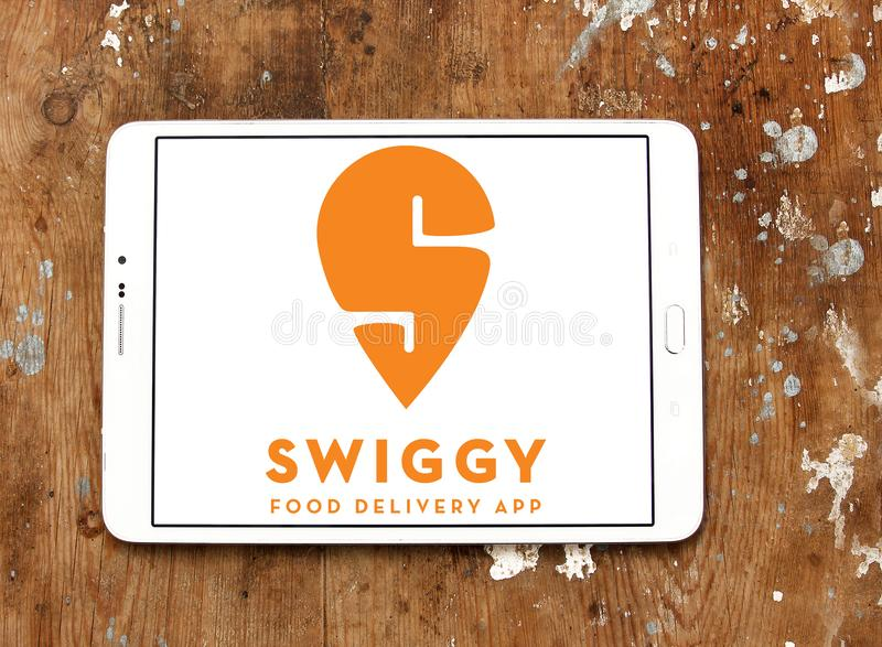 Swiggy online food delivery company logo royalty free stock photography