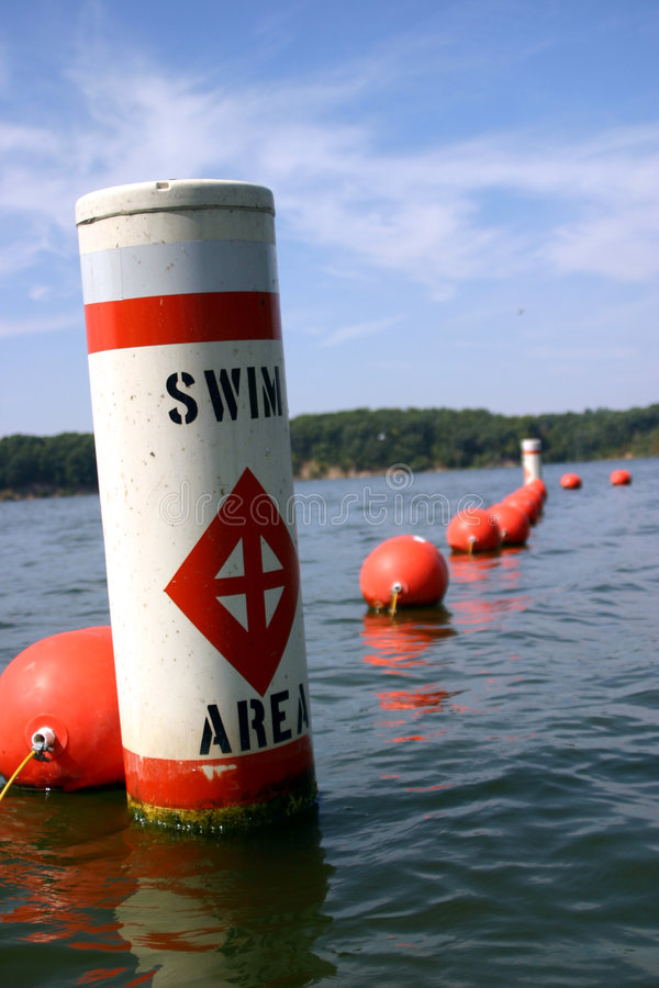 Swim-Bereichs-Boje lizenzfreie stockfotografie