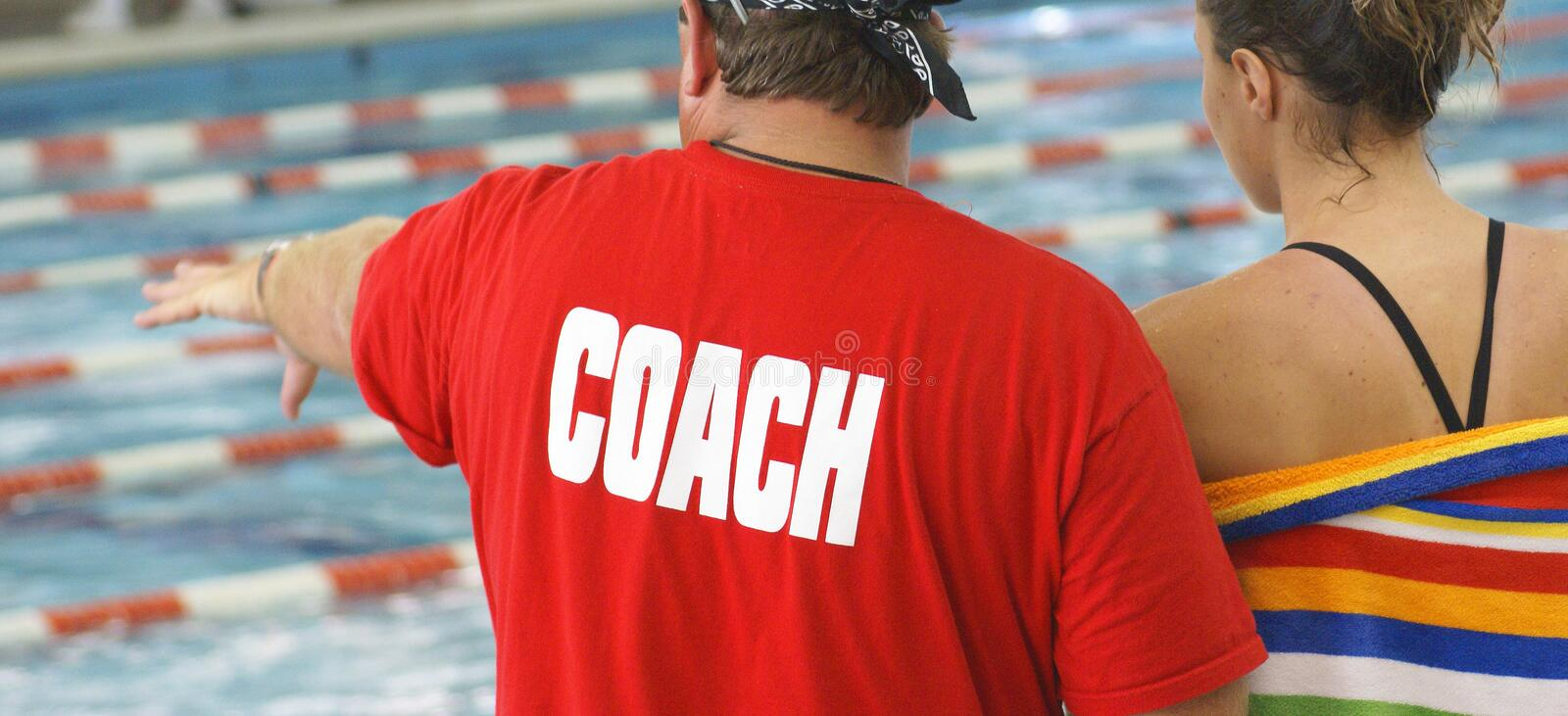 Download Swim Coach with Athlete stock photo. Image of manager - 2975100