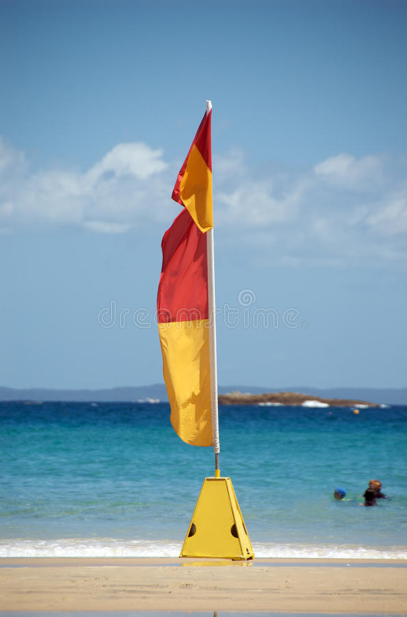 Swim between the flags royalty free stock photo