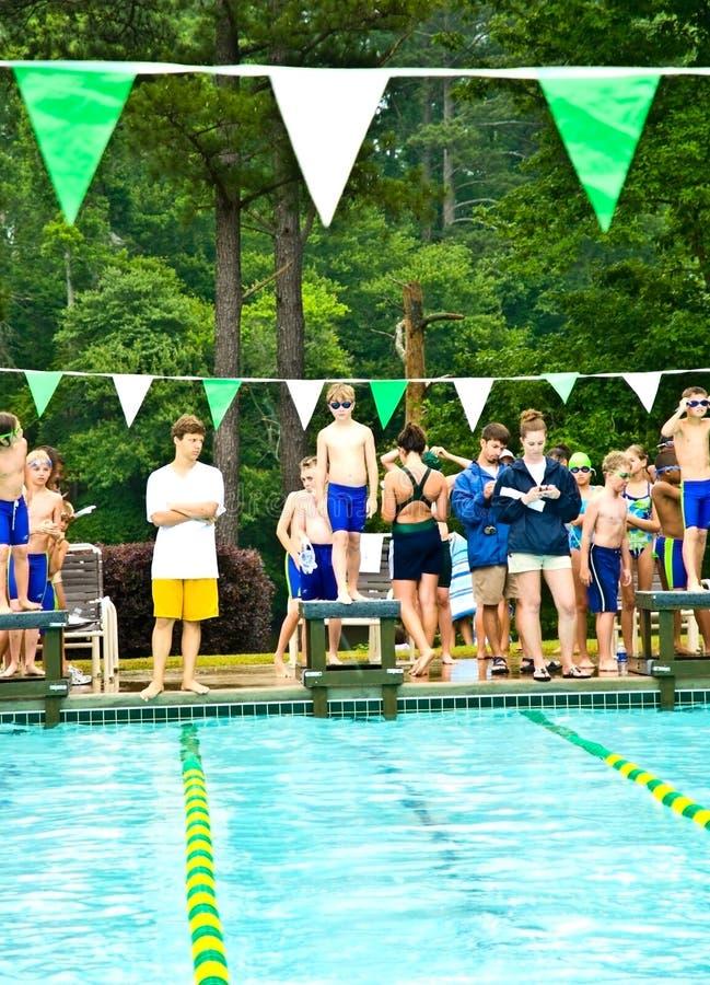 Swim Meet / Platform Ready royalty free stock image