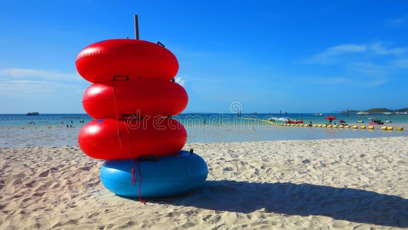 Swim ring . Swim ring on the beach in Thailand stock image