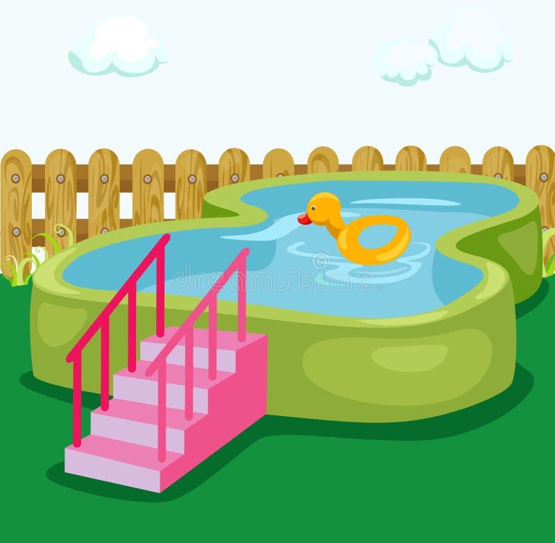 Swiming pool royalty free illustration