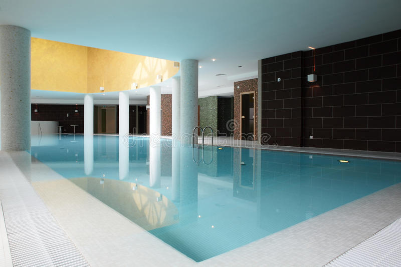 Swiming pool inside building royalty free stock photography