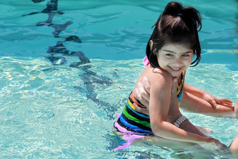 Swimlektion Lizenzfreie Stockfotos