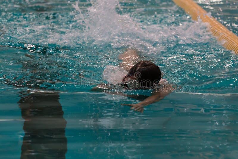 swimmer imagem de stock