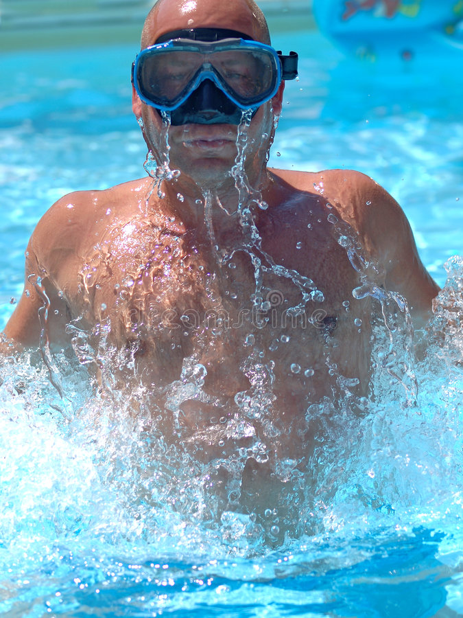 Swimmer in the water royalty free stock photography