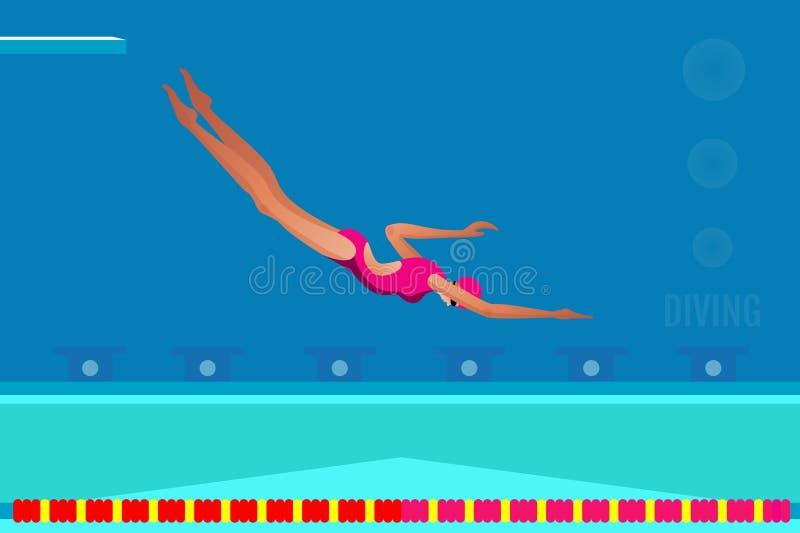 swimming Attrezzatura di sport acquatico Gioco di attività dell'atleta in concorrenza fotografia stock libera da diritti