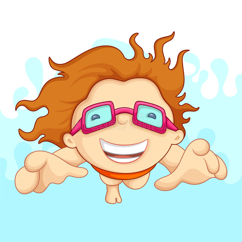 Download Swimming Boy stock vector. Image of illustration, baby - 25439288