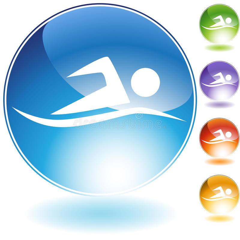 Swimming Buttons stock illustration