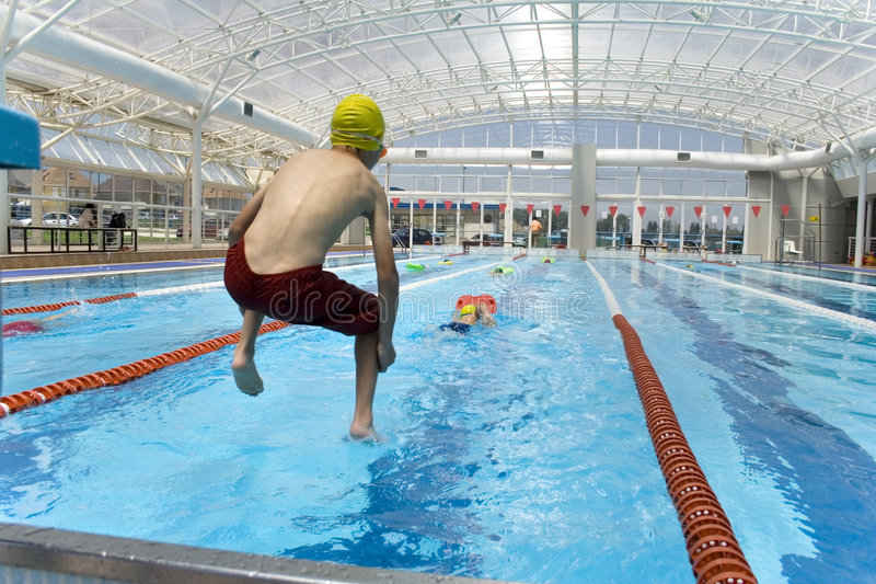 Swimming class 1 royalty free stock image