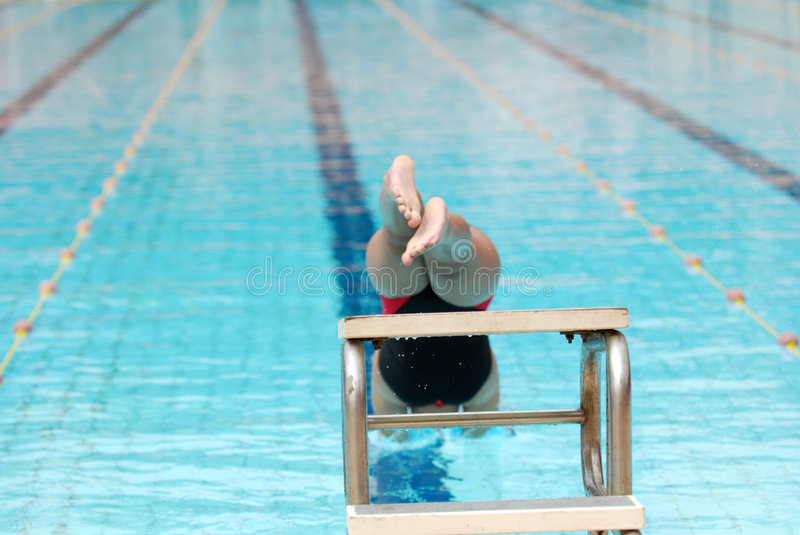 Download Swimming competition stock photo. Image of swimmer, lanes - 2421780