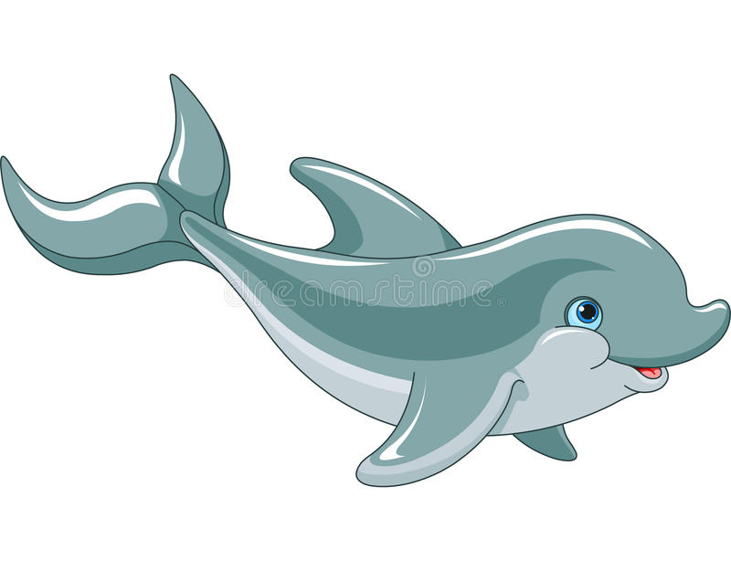Swimming Dolphin royalty free illustration