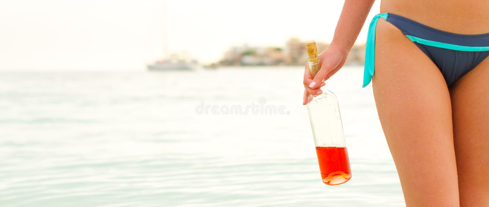 Swimming drunk is dangerous. Social theme concept. Swimming drunk is dangerous. Space for text royalty free stock images