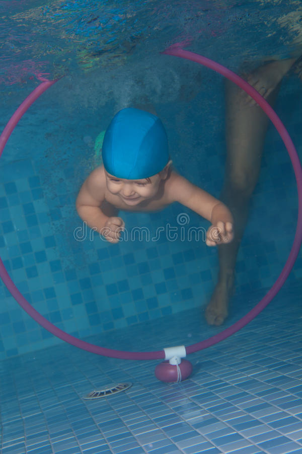 Download Swimming Exercises From Early Days Stock Image - Image of joyful, diving: 23023837