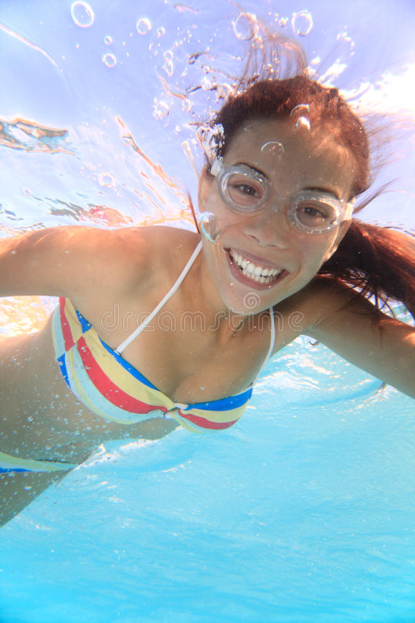 Download Swimming girl stock photo. Image of exercise, healthy - 17600988
