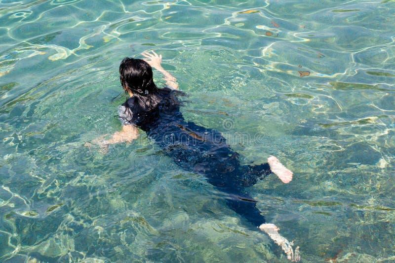 swimming girl royalty free stock image