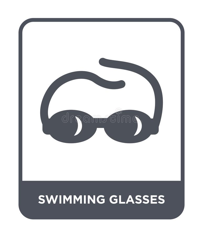 Swimming glasses icon in trendy design style. swimming glasses icon isolated on white background. swimming glasses vector icon. Simple and modern flat symbol vector illustration