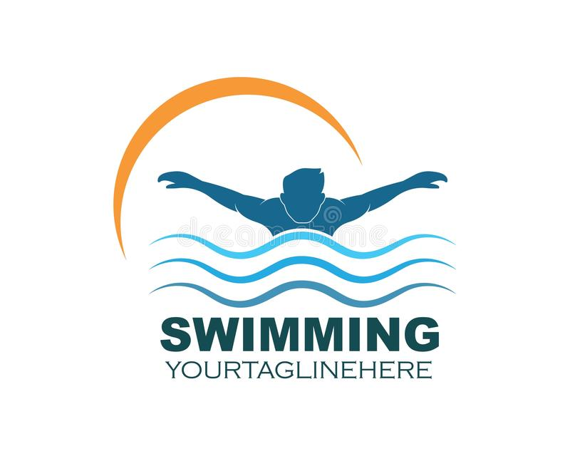 Swimming icon logo vector illustration design. Template royalty free illustration