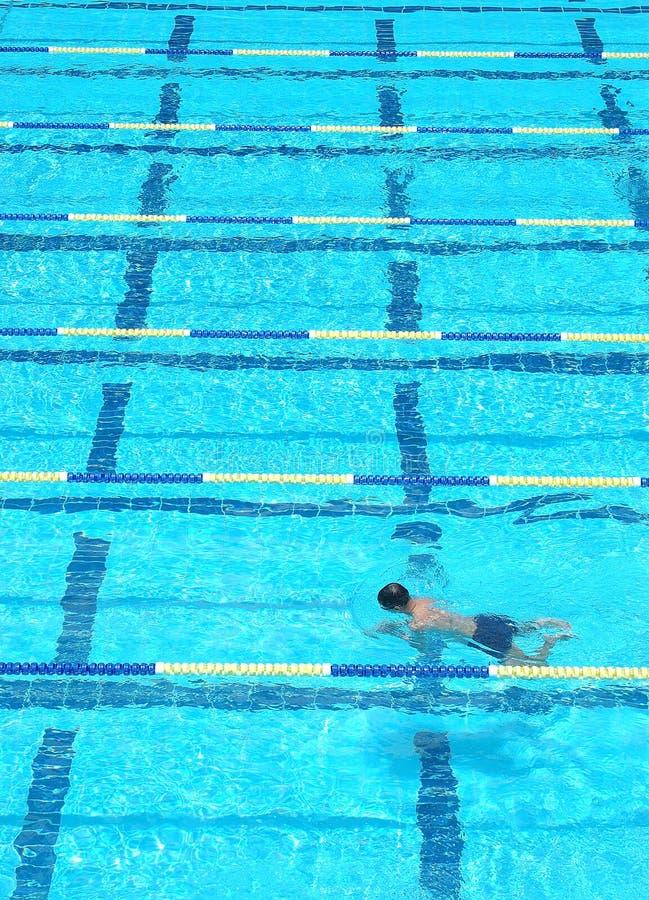 Swimming lane stock image