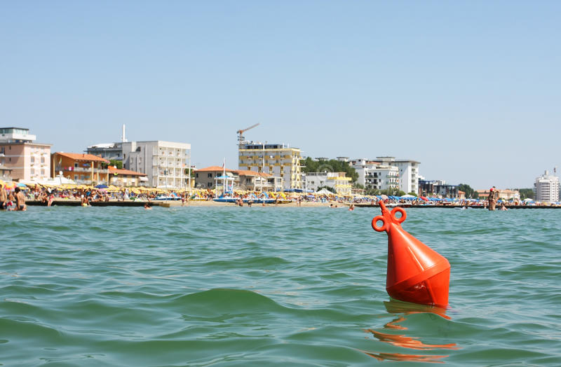 Swimming limit buoy royalty free stock image